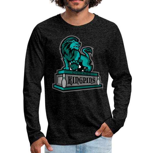 Chicago Kingpins Men's Long Sleeve T-Shirt - charcoal gray