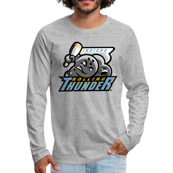 Indiana Rolling Thunder Men's Long Sleeve T-Shirt - heather gray