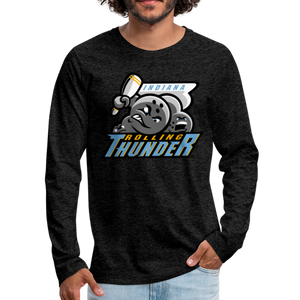 Indiana Rolling Thunder Men's Long Sleeve T-Shirt - charcoal gray