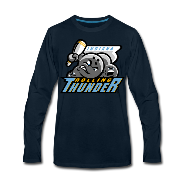 Indiana Rolling Thunder Men's Long Sleeve T-Shirt - deep navy