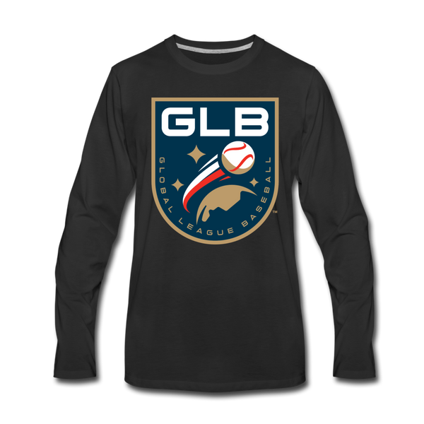 Global League Baseball Men's Long Sleeve T-Shirt - black
