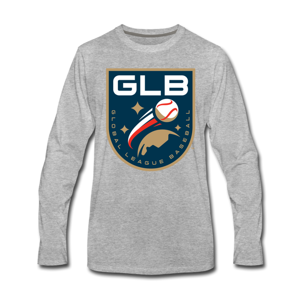 Global League Baseball Men's Long Sleeve T-Shirt - heather gray