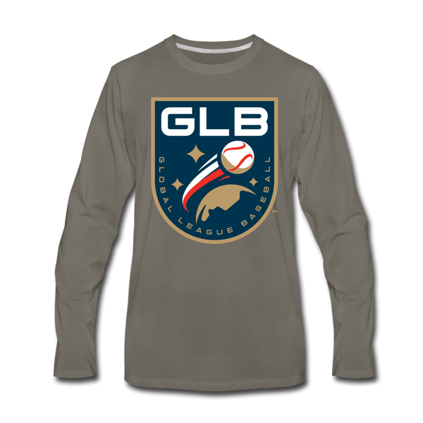 Global League Baseball Men's Long Sleeve T-Shirt - asphalt gray
