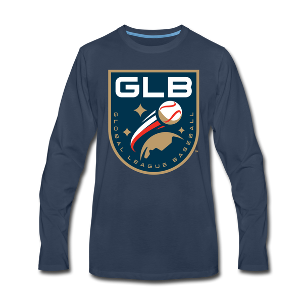 Global League Baseball Men's Long Sleeve T-Shirt - navy