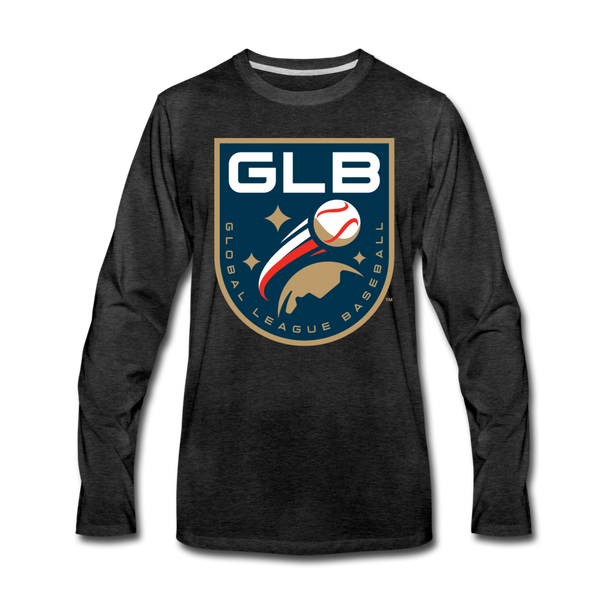 Global League Baseball Men's Long Sleeve T-Shirt - charcoal gray