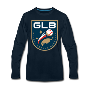 Global League Baseball Men's Long Sleeve T-Shirt - deep navy