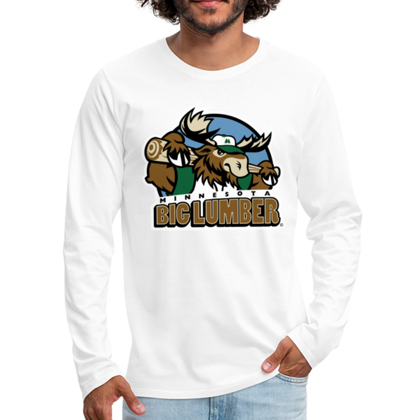 Minnesota Big Lumber Men's Long Sleeve T-Shirt - white