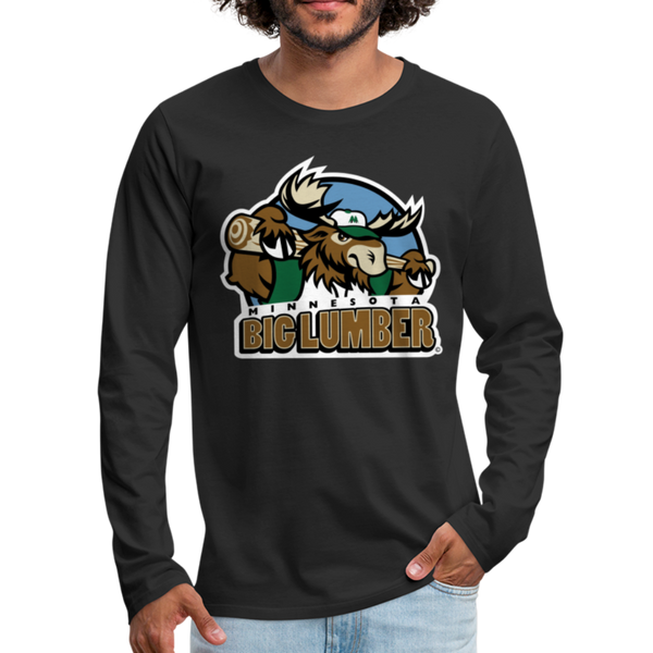 Minnesota Big Lumber Men's Long Sleeve T-Shirt - black