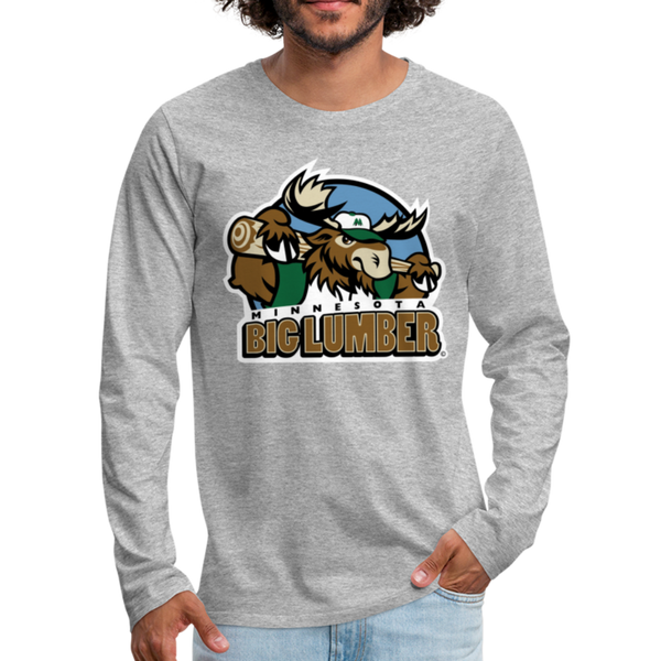 Minnesota Big Lumber Men's Long Sleeve T-Shirt - heather gray