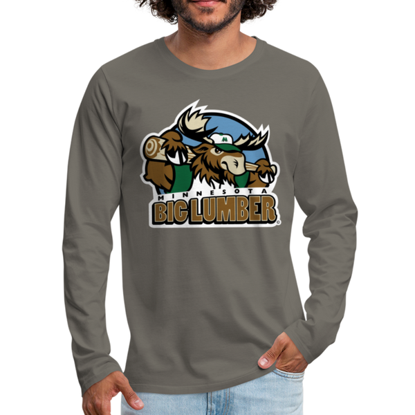 Minnesota Big Lumber Men's Long Sleeve T-Shirt - asphalt gray