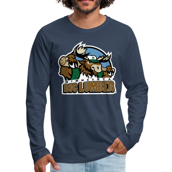 Minnesota Big Lumber Men's Long Sleeve T-Shirt - navy
