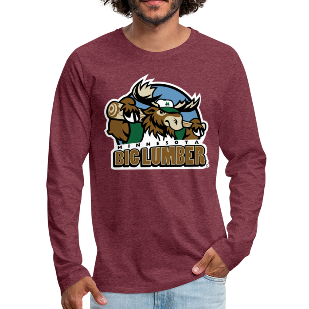 Minnesota Big Lumber Men's Long Sleeve T-Shirt - heather burgundy