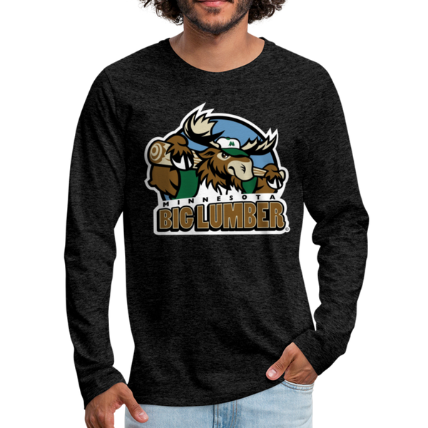 Minnesota Big Lumber Men's Long Sleeve T-Shirt - charcoal gray