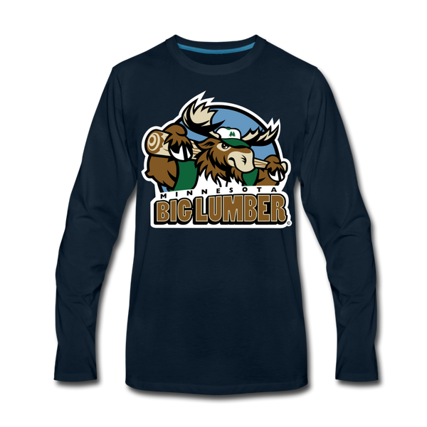 Minnesota Big Lumber Men's Long Sleeve T-Shirt - deep navy