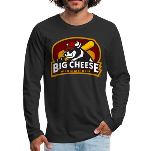 Wisconsin Big Cheese Men's Long Sleeve T-Shirt - black