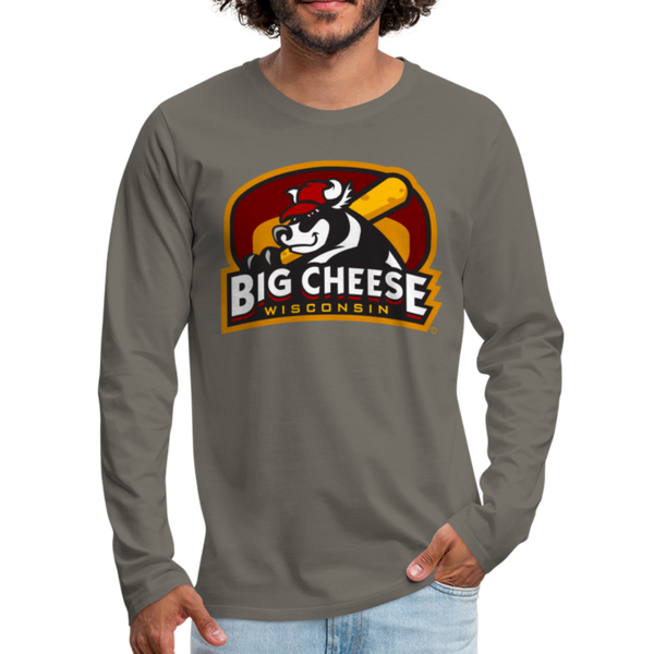 Wisconsin Big Cheese Men's Long Sleeve T-Shirt - asphalt gray