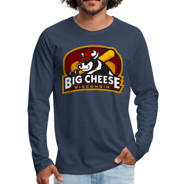 Wisconsin Big Cheese Men's Long Sleeve T-Shirt - navy