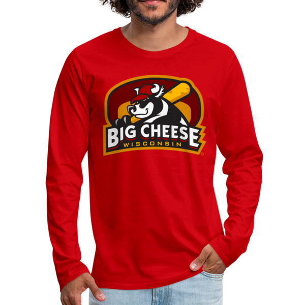 Wisconsin Big Cheese Men's Long Sleeve T-Shirt - red