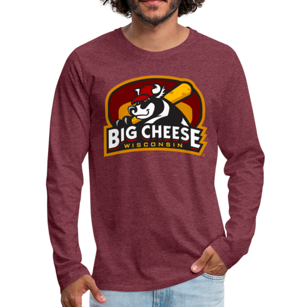 Wisconsin Big Cheese Men's Long Sleeve T-Shirt - heather burgundy
