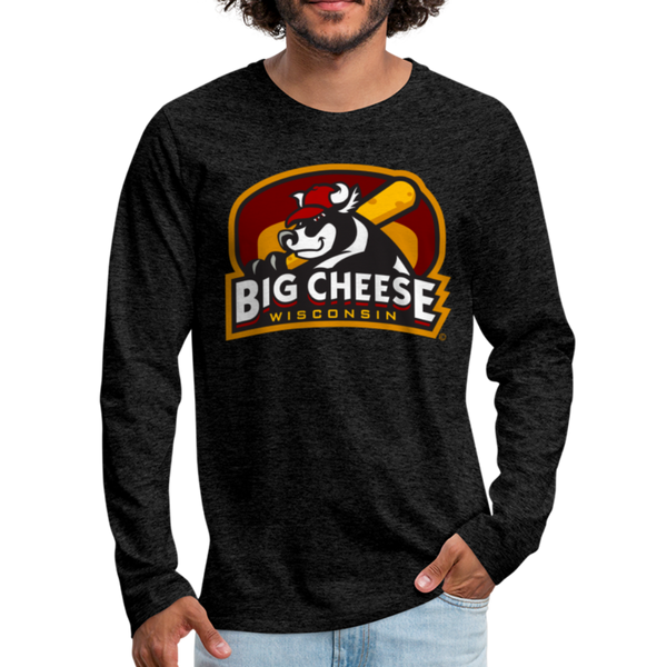 Wisconsin Big Cheese Men's Long Sleeve T-Shirt - charcoal gray