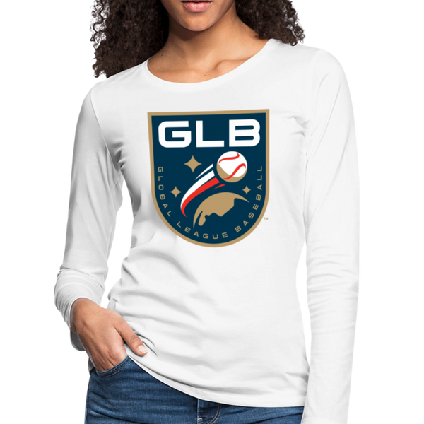 Global League Baseball Women's Long Sleeve T-Shirt - white