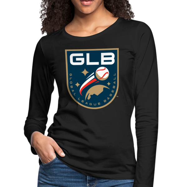 Global League Baseball Women's Long Sleeve T-Shirt - black
