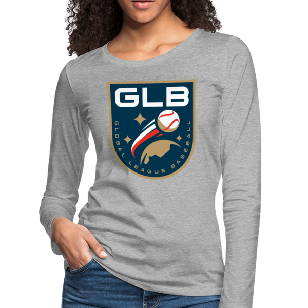 Global League Baseball Women's Long Sleeve T-Shirt - heather gray
