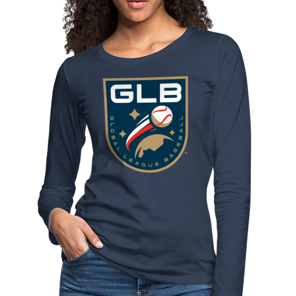 Global League Baseball Women's Long Sleeve T-Shirt - navy