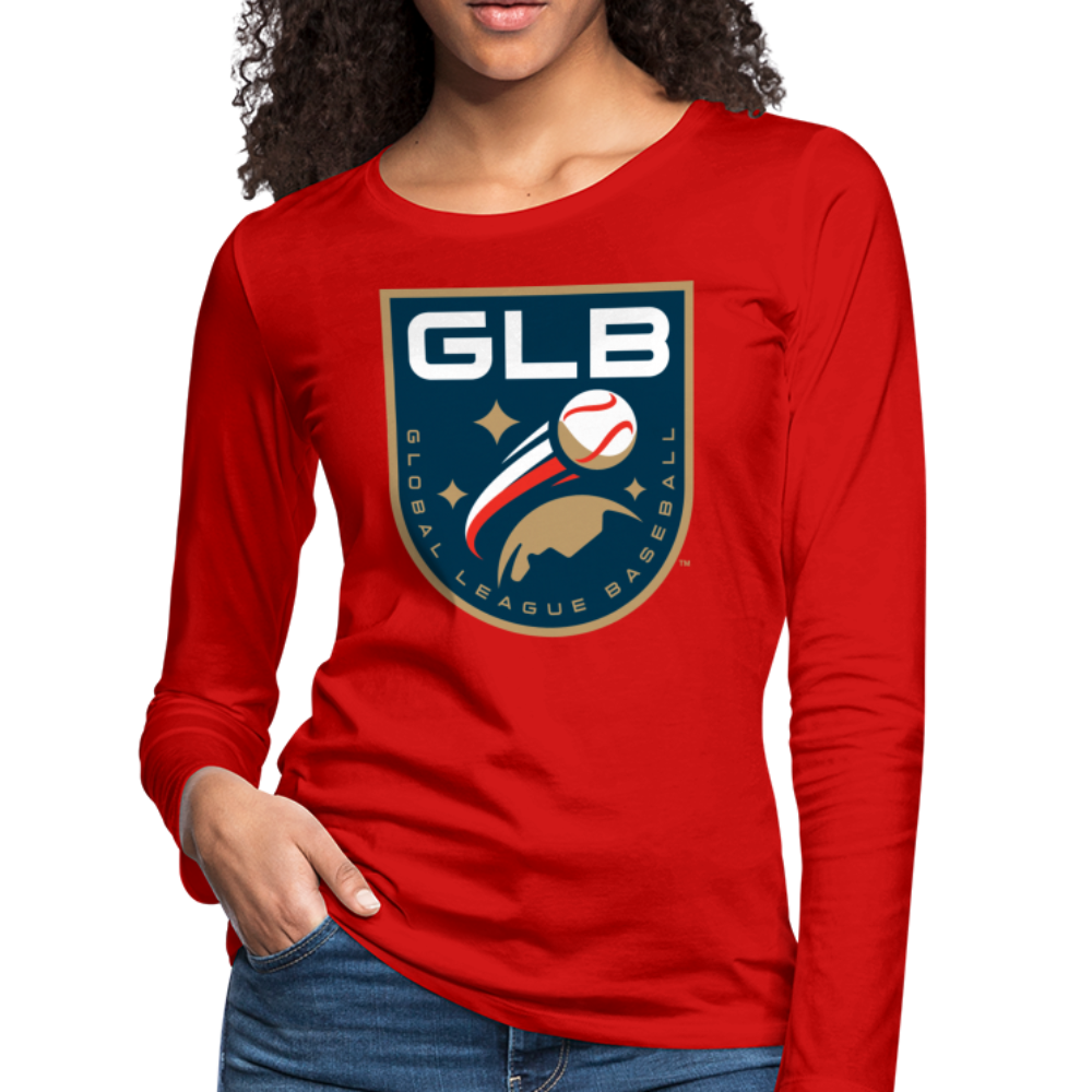 Global League Baseball Women's Long Sleeve T-Shirt - red