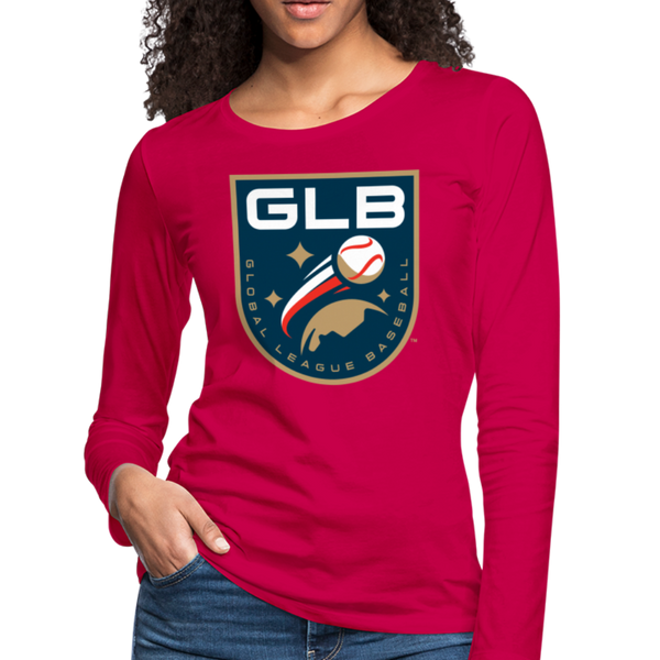 Global League Baseball Women's Long Sleeve T-Shirt - dark pink