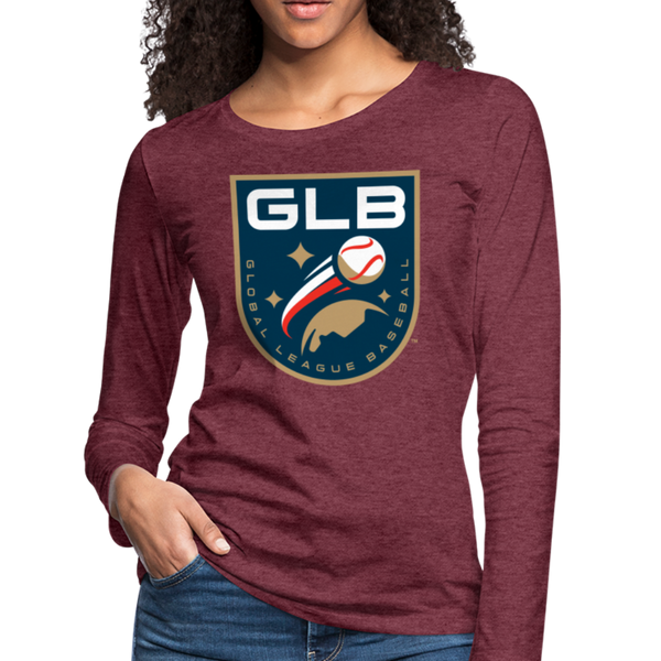 Global League Baseball Women's Long Sleeve T-Shirt - heather burgundy
