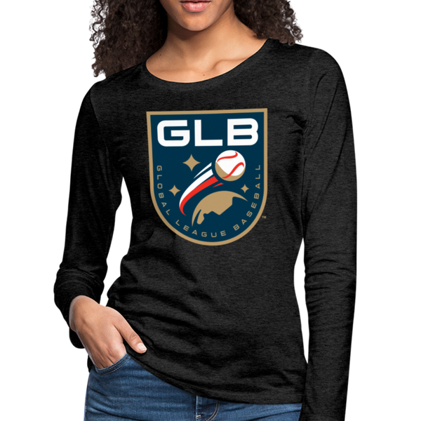 Global League Baseball Women's Long Sleeve T-Shirt - charcoal gray