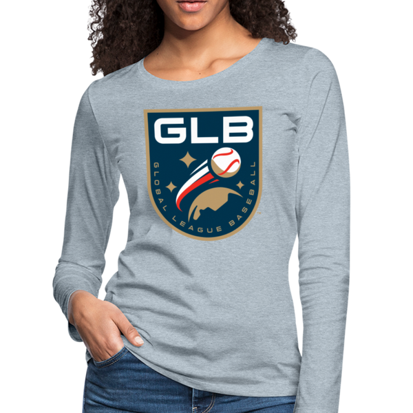 Global League Baseball Women's Long Sleeve T-Shirt - heather ice blue