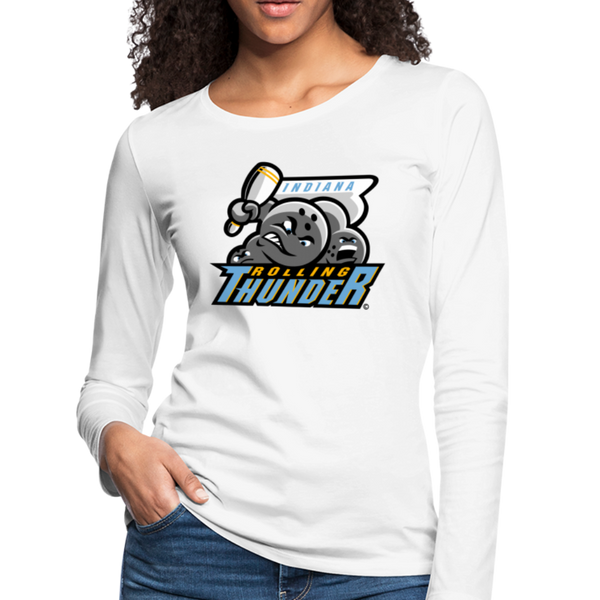 Indiana Rolling Thunder Women's Long Sleeve T-Shirt - white