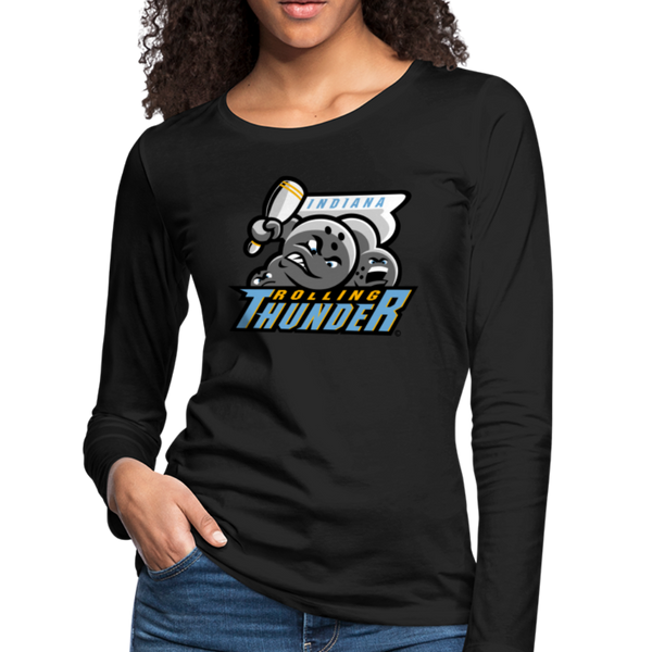 Indiana Rolling Thunder Women's Long Sleeve T-Shirt - black