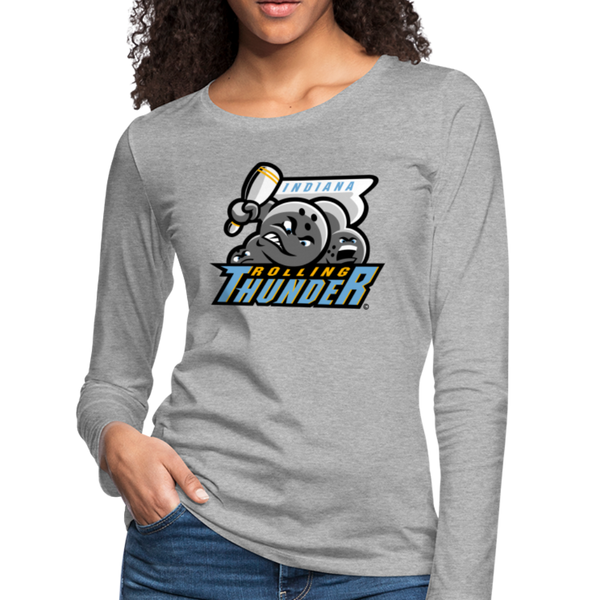 Indiana Rolling Thunder Women's Long Sleeve T-Shirt - heather gray
