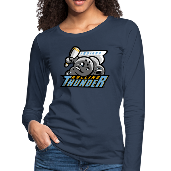 Indiana Rolling Thunder Women's Long Sleeve T-Shirt - navy