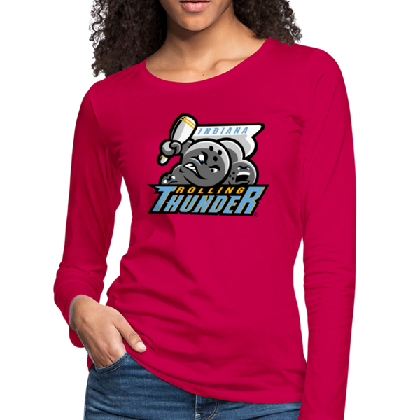 Indiana Rolling Thunder Women's Long Sleeve T-Shirt - dark pink