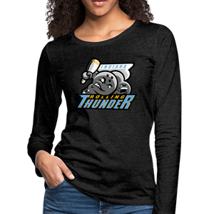 Indiana Rolling Thunder Women's Long Sleeve T-Shirt - charcoal gray