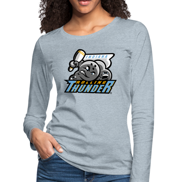 Indiana Rolling Thunder Women's Long Sleeve T-Shirt - heather ice blue