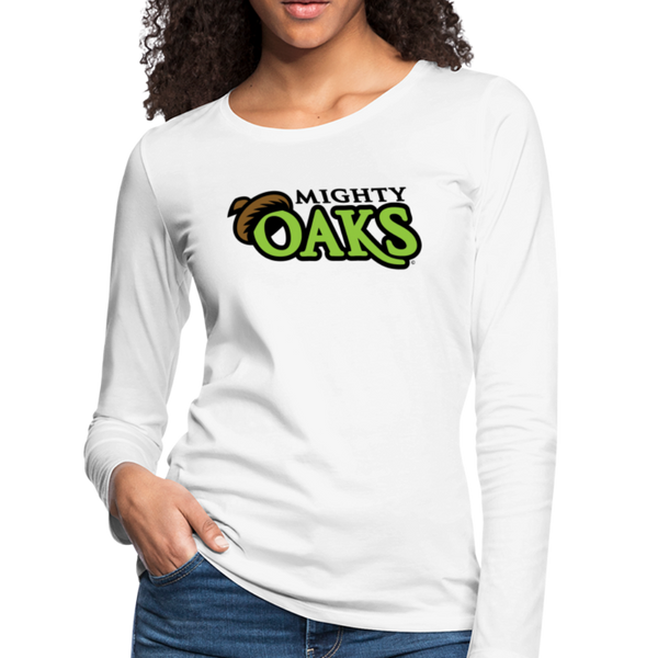 Mighty Oaks of Connecticut Women's Long Sleeve T-Shirt - white