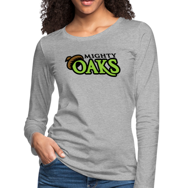 Mighty Oaks of Connecticut Women's Long Sleeve T-Shirt - heather gray