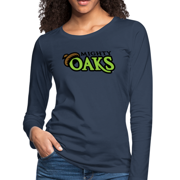 Mighty Oaks of Connecticut Women's Long Sleeve T-Shirt - navy