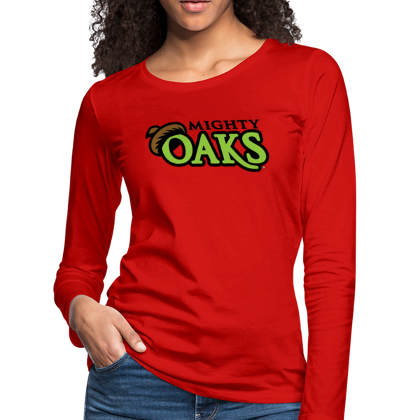 Mighty Oaks of Connecticut Women's Long Sleeve T-Shirt - red