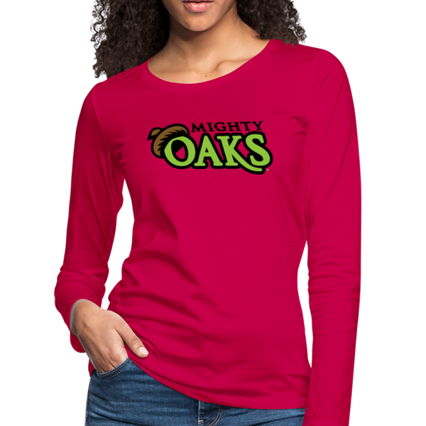 Mighty Oaks of Connecticut Women's Long Sleeve T-Shirt - dark pink