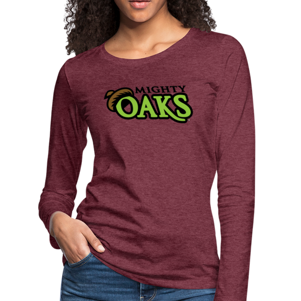 Mighty Oaks of Connecticut Women's Long Sleeve T-Shirt - heather burgundy