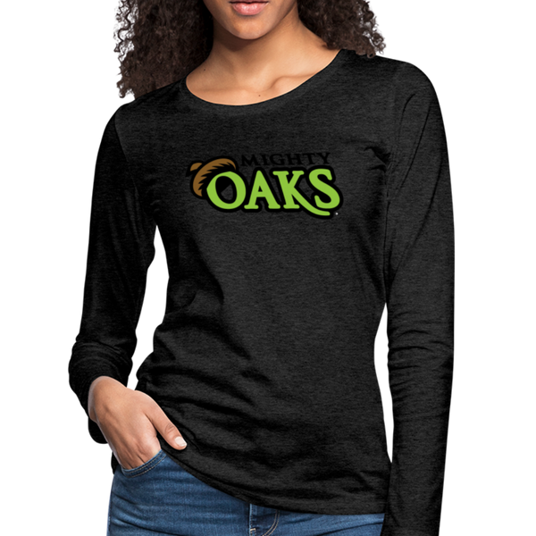 Mighty Oaks of Connecticut Women's Long Sleeve T-Shirt - charcoal gray