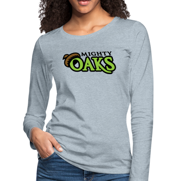 Mighty Oaks of Connecticut Women's Long Sleeve T-Shirt - heather ice blue