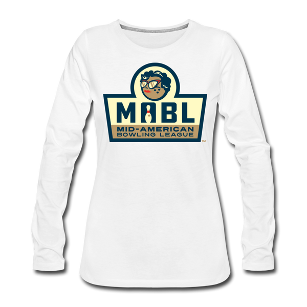 MABL Bowling Women's Long Sleeve T-Shirt - white