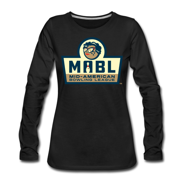 MABL Bowling Women's Long Sleeve T-Shirt - black